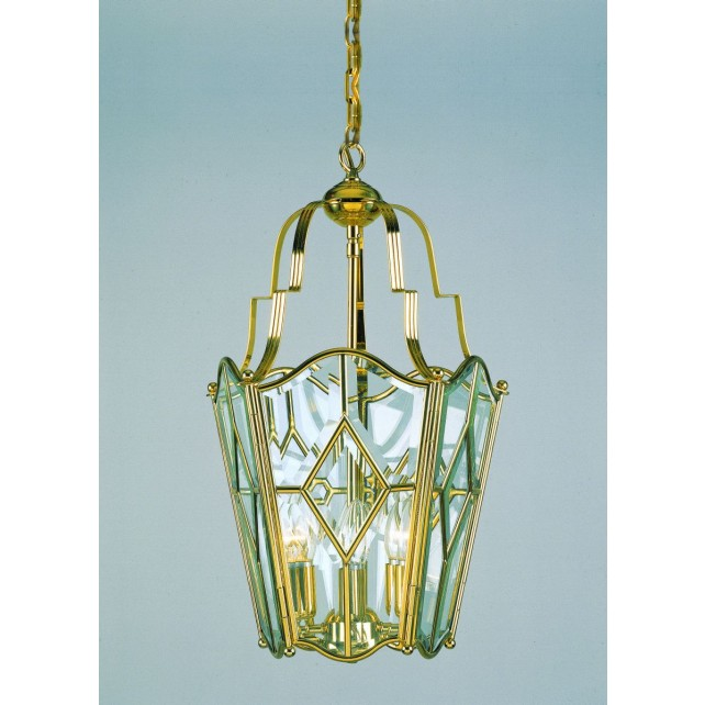Impex Alicante Lantern Solid Brass - 4 Light