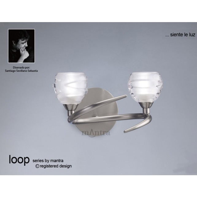 Loop Switched Wall Light 2 Light Polished Chrome