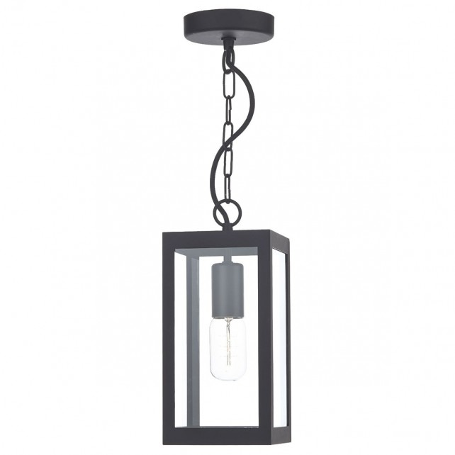 Lotus Single Pendant Light - Black