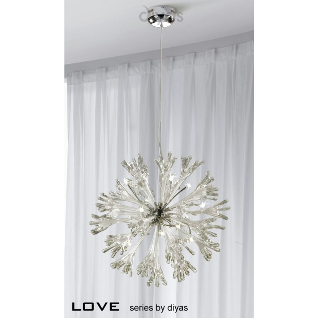 Diyas Love Pendant 11 Light Polished Chrome Large