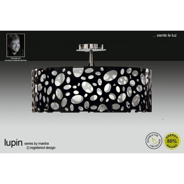 Lupin Semi Ceiling 4 Light Polished Chrome/Black/White