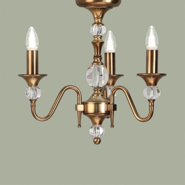 Interiors1900 Polina Brass 3-Light Chandelier