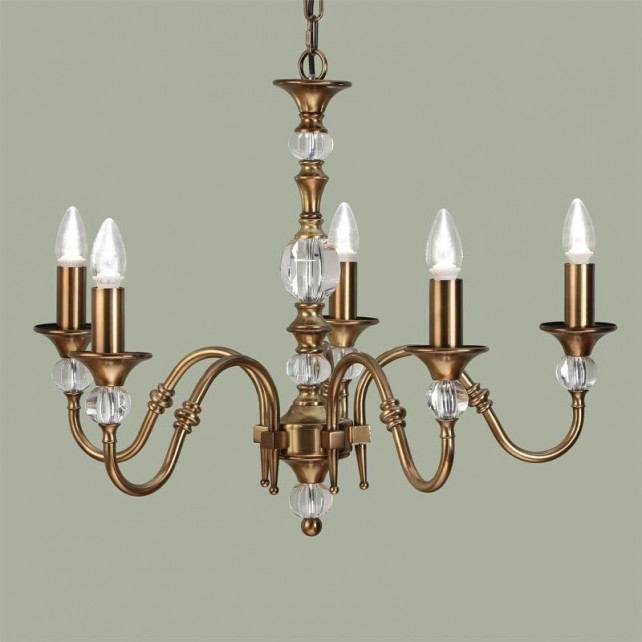 Interiors1900 Polina Brass 5-Light Chandelier