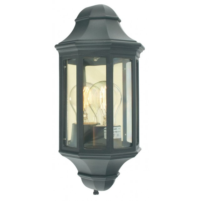 Norlys M8/2 MINI BLACK Malaga Mini M8/2 Half Lantern Black
