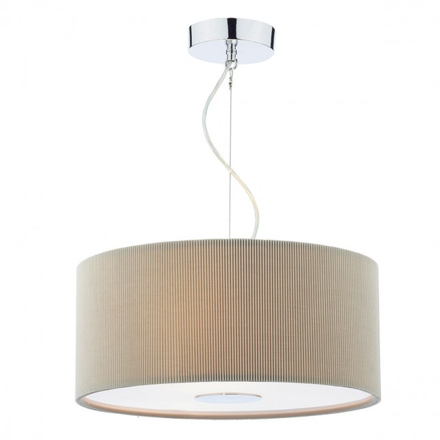 Dar Maurice 3-Light 40Cm Pendant Grey