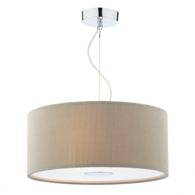 Dar Maurice 3-Light 60Cm Pendant Grey