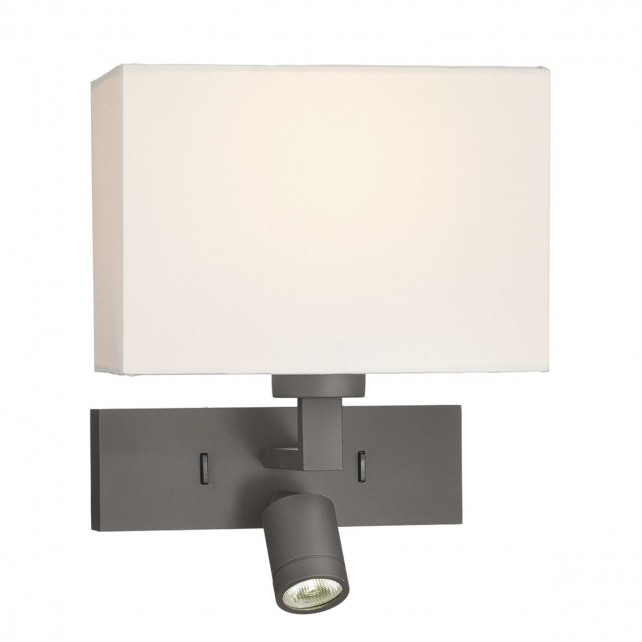 1 Light Rectangle Wall Bracket With Led Bronze Base Only