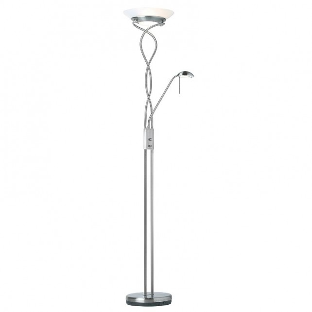 Monaco Floor Lamp - Satin Chrome