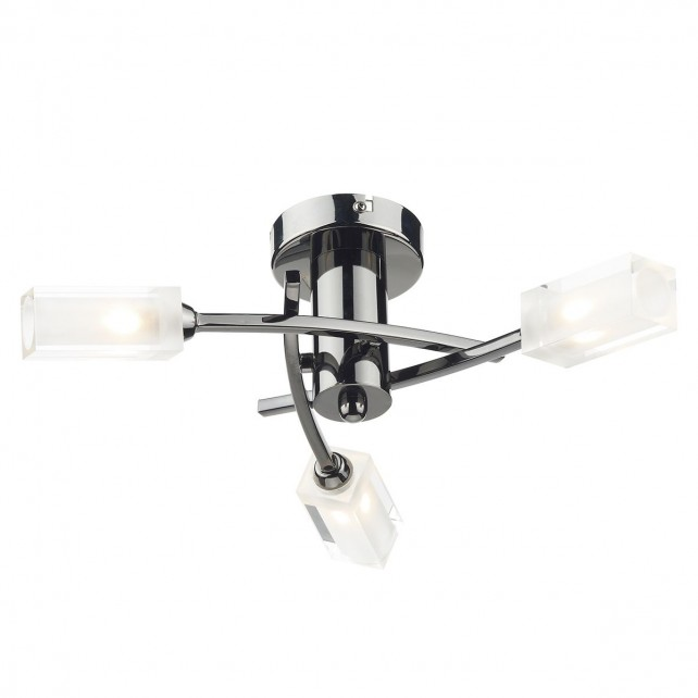 Morgan 3 Light Semi Flush Black Chr
