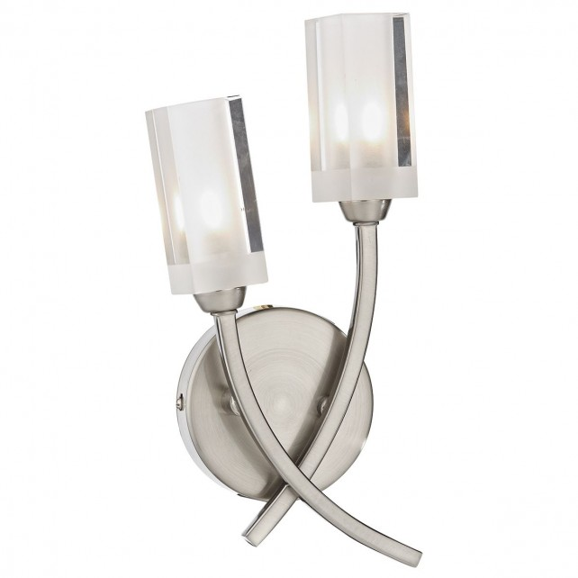 Morgan Double Wall Light Satin Chrome