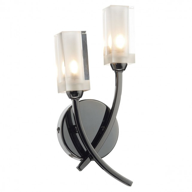 Morgan Double Wall Light Black Chr