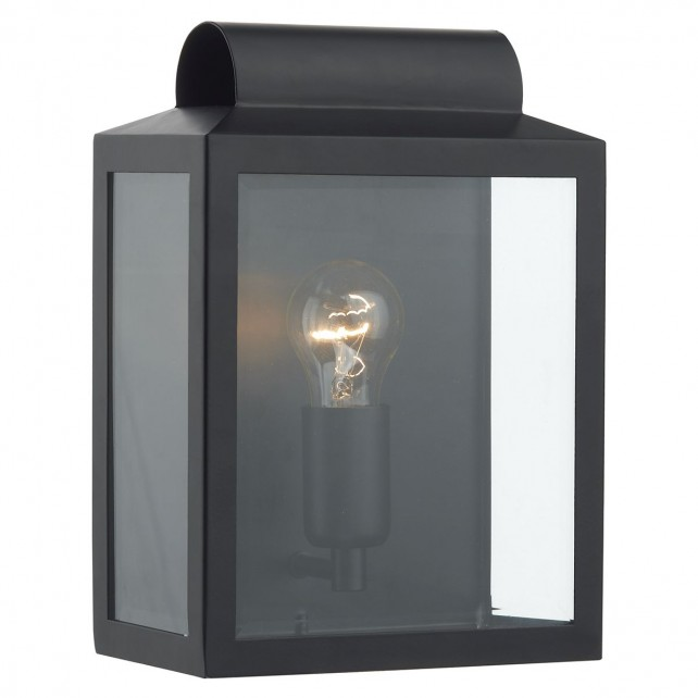 Notary IP44 Rectangle Wall Light - Black