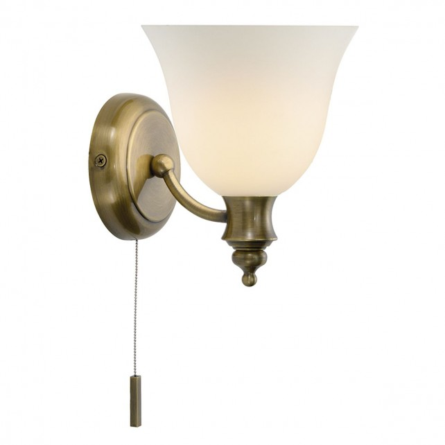 Oboe Wall Light - Antique Brass