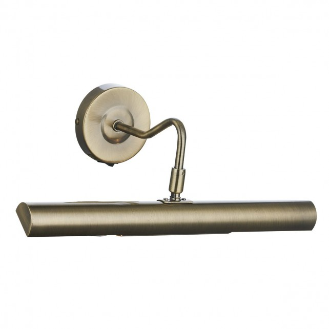 Dar Onedin 2-Light Wall Light Antique Brass