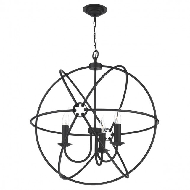 Orb 3 Light Pendant Black