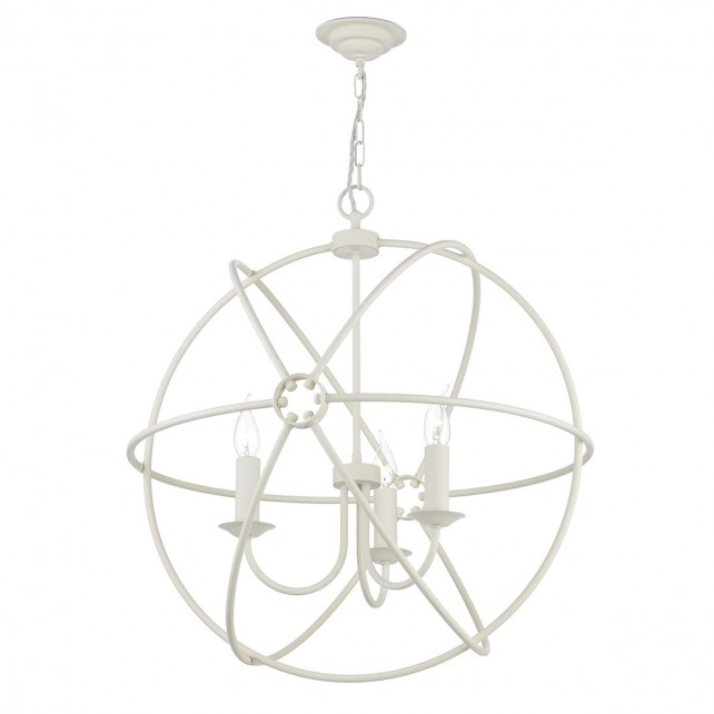 Orb 3 Light Pendant Cream
