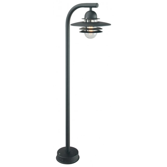 Norlys OS4 BLACK C Oslo Pillar Lantern Black Clear