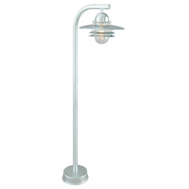 Norlys OS4 GAL C Oslo Pillar Lantern Galvanised Clear