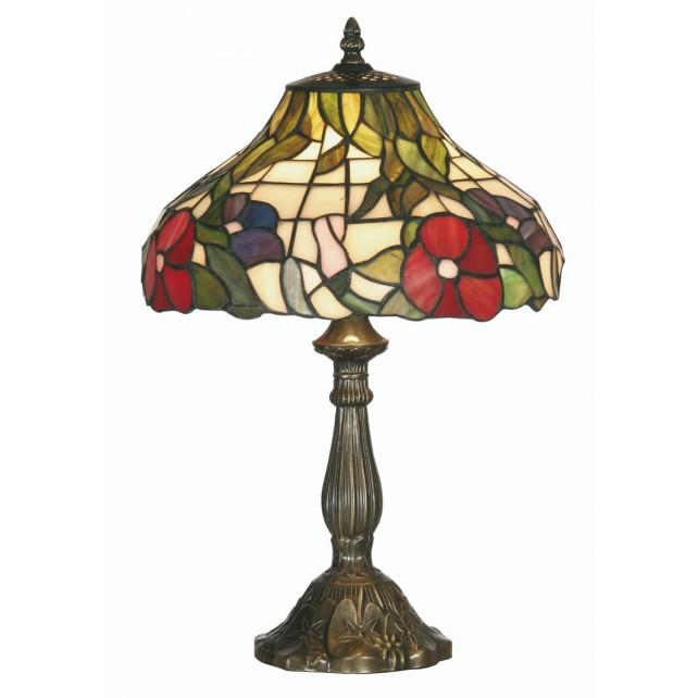 Peonies Tiffany Table Lamp - Medium