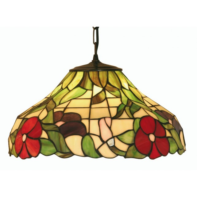 Peonies Tiffany Ceiling Light - Pendant