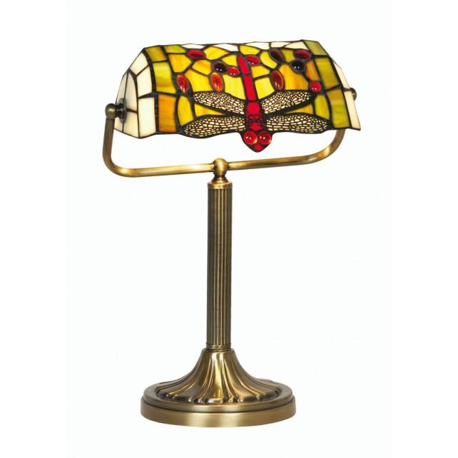 Oaks Lighting OT 1485/BL TL Dragon Fly Bankers Lamp