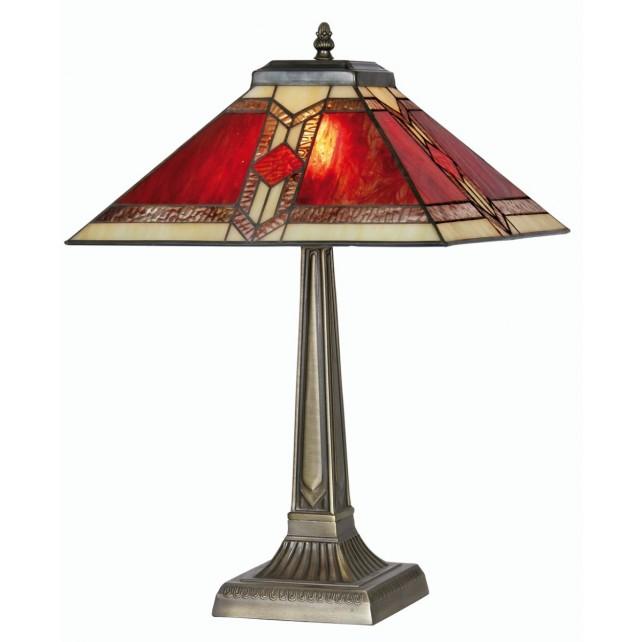Aztec Tiffany Table Lamp - Large