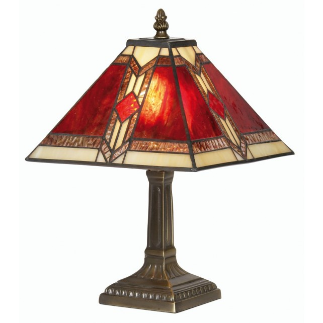 Aztec Tiffany Table Lamp - Small