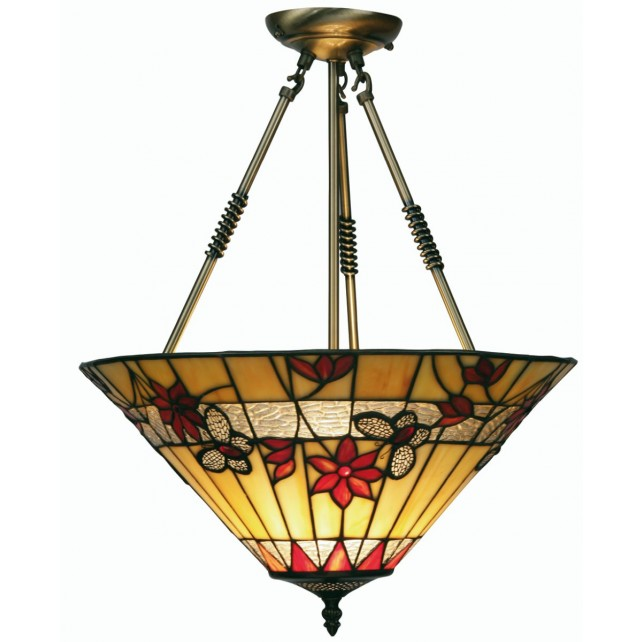 Butterfly Tiffany Ceiling Light