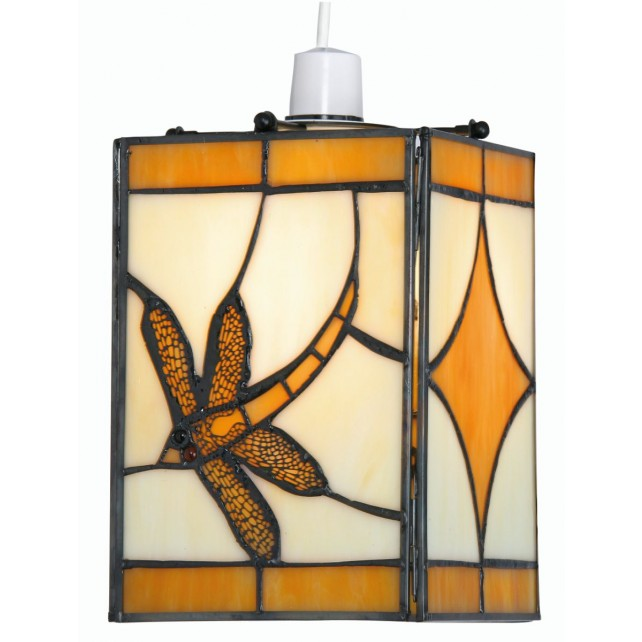 Dragonfly Tiffany Non - Electrical Pendant Amber