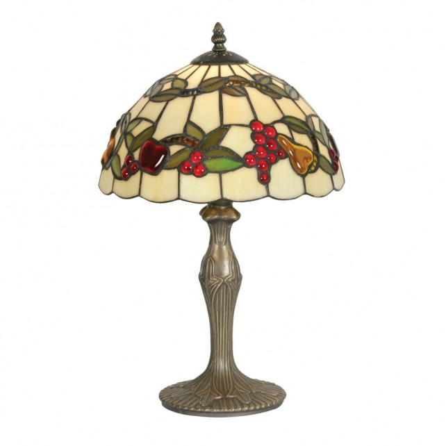 Tiffany Fruit Table Lamp - Antique Brass