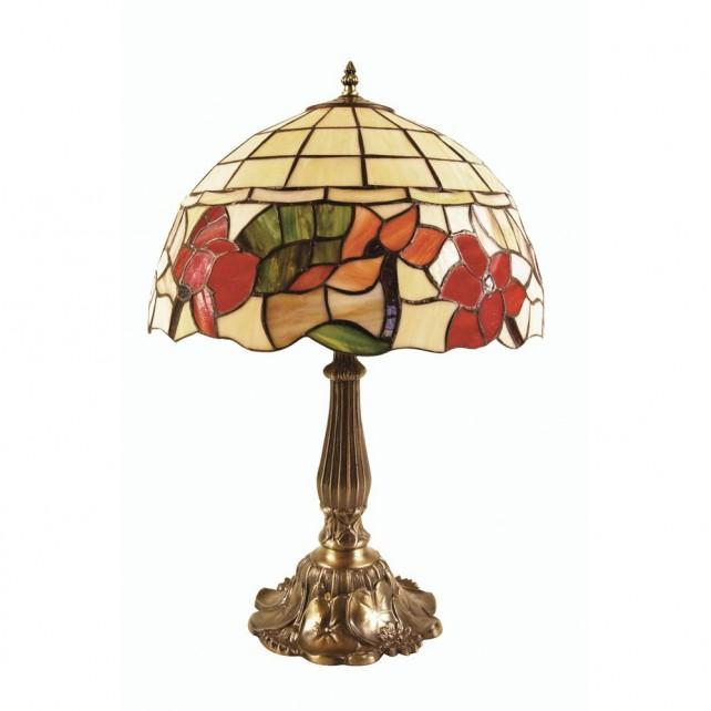 Oaks Lighting OT 4382/12 TL Border Tiffany Table Lamp