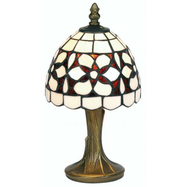 Tiffany Table Lamp - Amber Flower 6""