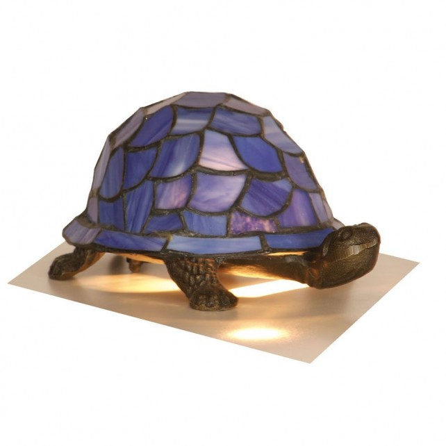 Tortoise Tiffany Lamp - Blue