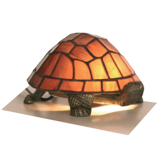 Tortoise Tiffany Lamp - Purple