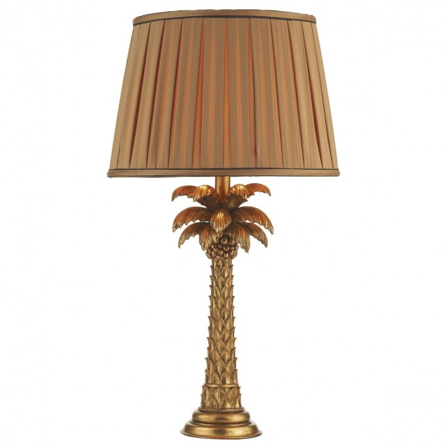Palm Table Lamp Gold Base Only