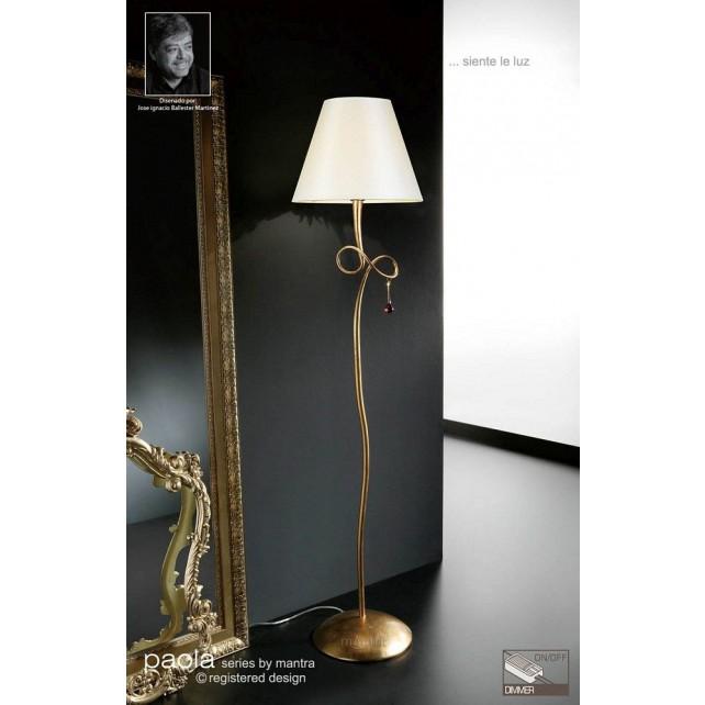 Paola Floor Lamp 1 Light Gold Leaf