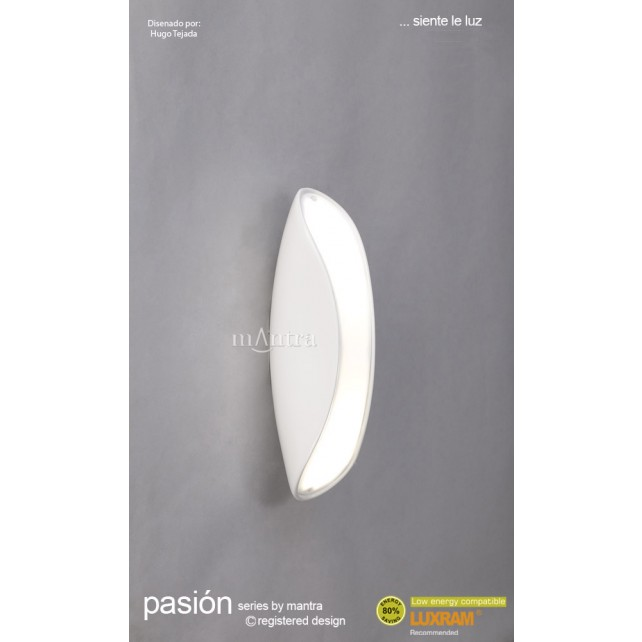 Pasion Wall Lamp 2 Light White
