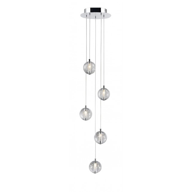 Bubbles Pendant 5 Light - Clear Baubles