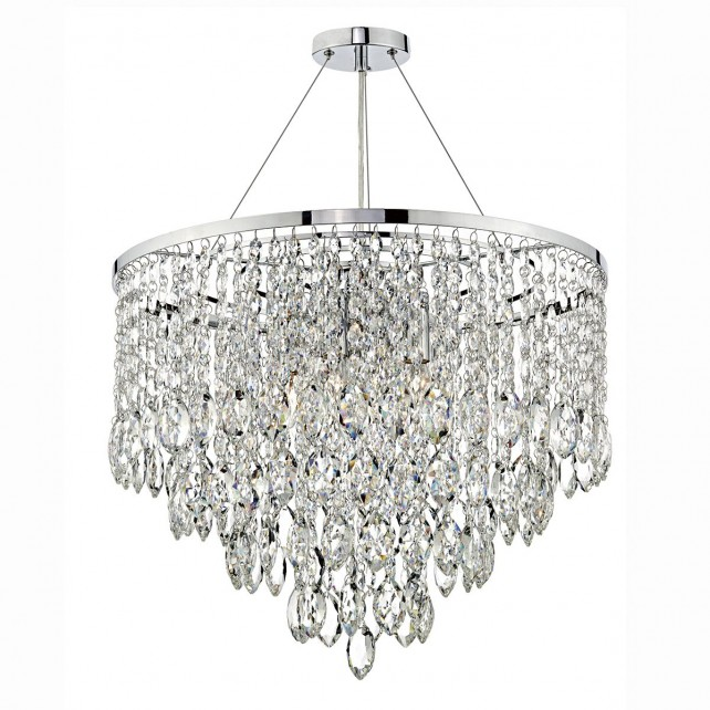 Pescara 5 Light Round Pendant Decorative Crystal