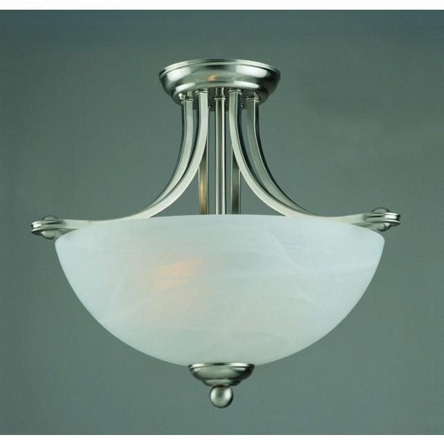 Impex Texas Ceiling Light - 2 Light, Satin Chrome & Nickel
