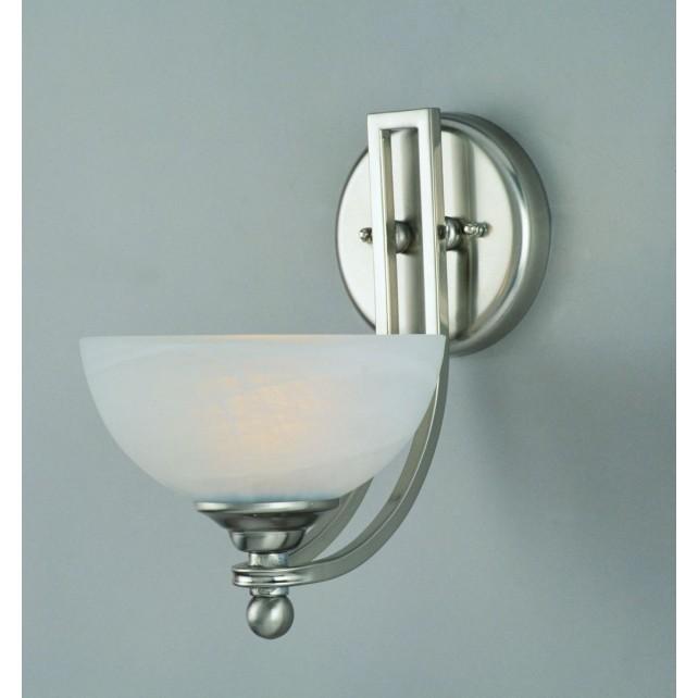 Impex Texas Wall Light Satin Nickel - 1 Light