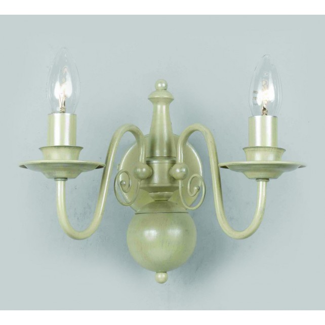 Impex Bologna Wall Light Cream - 2 Light
