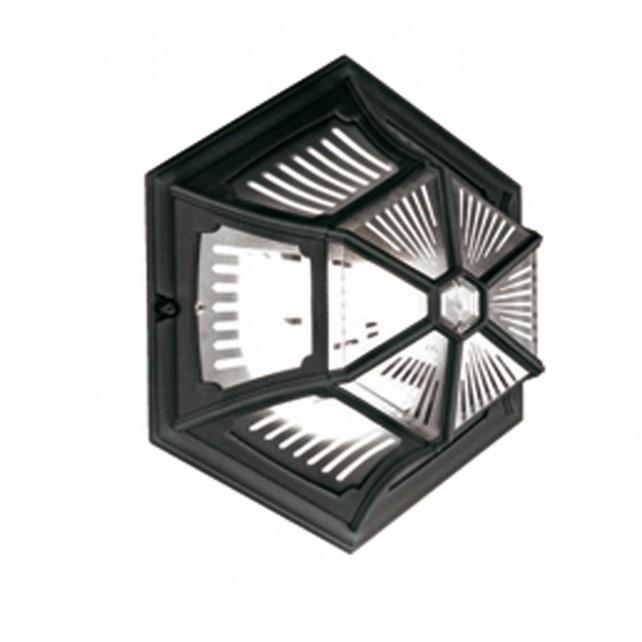 Elstead PR12 BLACK Parish Up Ceiling Flush Light Lantern Black