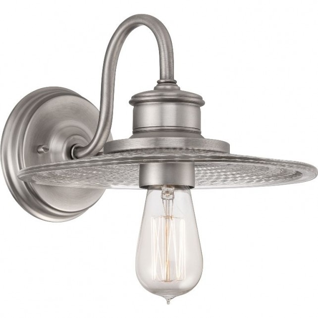 Quoizel QZ/ADMIRAL1 AN Admiral 1 - Light Wall Light Antique Nickel