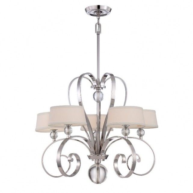 Quoizel QZ/MADISONM5 IS Madison Manor 5 - Light Chandelier Imperial Silver