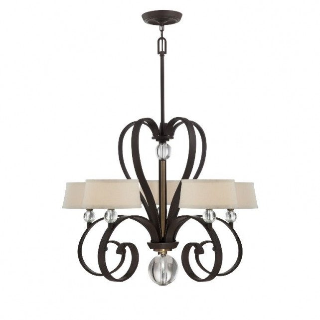 Quoizel QZ/MADISONM5 WT Madison Manor 5 - Light Chandelier