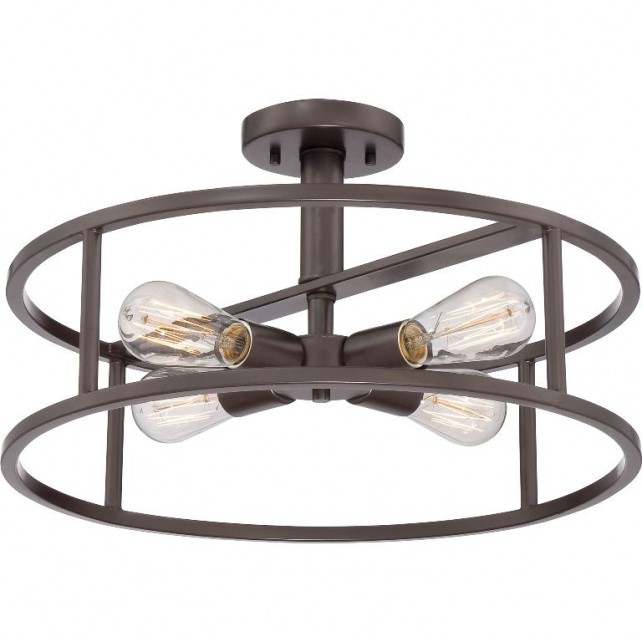 Quoizel QZ/NEWHARBOR/SF New Harbor 4 - Light Semi-Flush