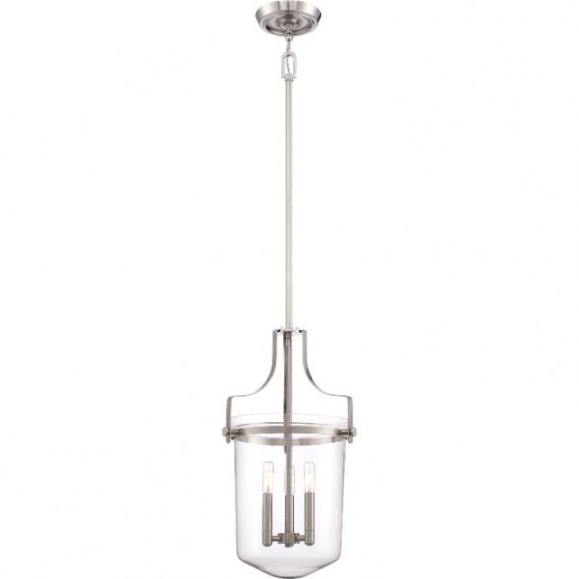 Quoizel QZ/PENNSTAT/M BN Penn Station 3 - Light Pendant Brushed Nickel