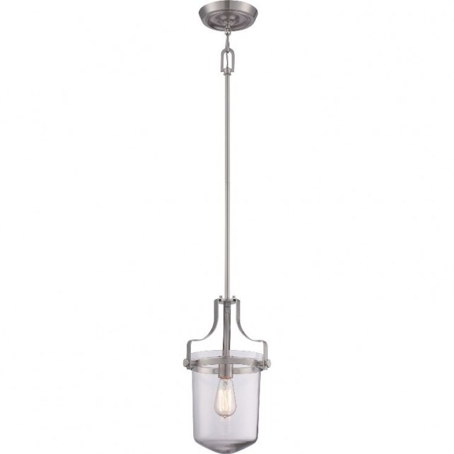 Quoizel QZ/PENNSTAT/S BN Penn Station 1 - Light Mini Pendant Brushed Nickel