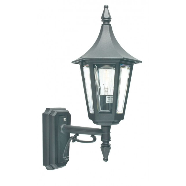 Norlys R1 BLACK Rimini Up Wall Lantern Black